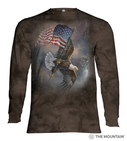 455958 Flag Bearing Eagle Long Sleeved T-Shirt