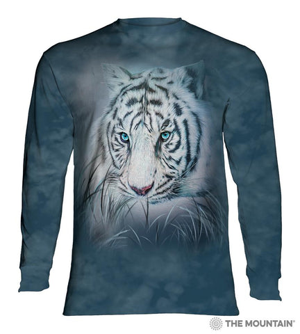 455964 Thoughtful White Tiger Long Sleeved T-Shirt