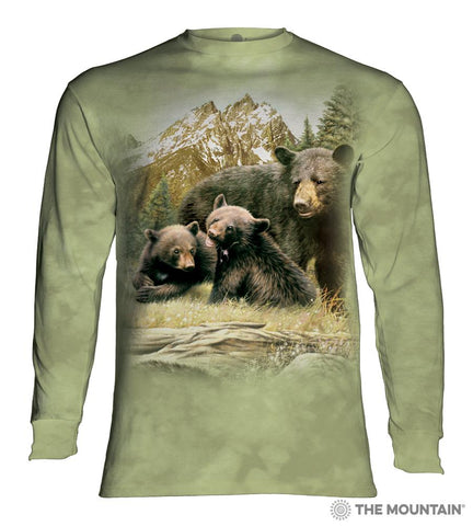 455980 Black Bear Family Long Sleeved T-Shirt