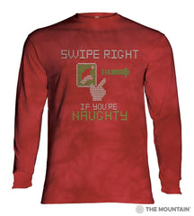 456174 Swipe Right Naughty Long Sleeved T-Shirt
