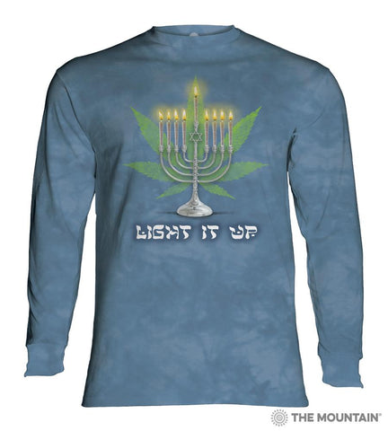 456175 Lit Hanukkah Long Sleeved T-Shirt