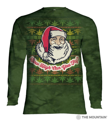 456176 Fly High Santa Long Sleeved T-Shirt