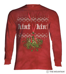 456180 Mistletoe Hint Hint Long Sleeved T-Shirt