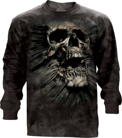 456247 Breakthrough Skull Long Sleeved Tee