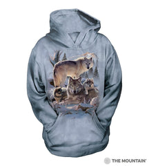 6283 Wolf Family Mountain Youth Hoodie