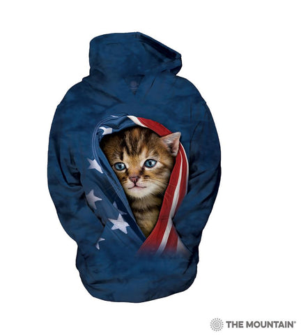 533941 Patriotic Kitten Youth Hoodie Sweatshirt