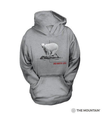 5573 Habitat Polar Bear Youth Hoodie Sweatshirt