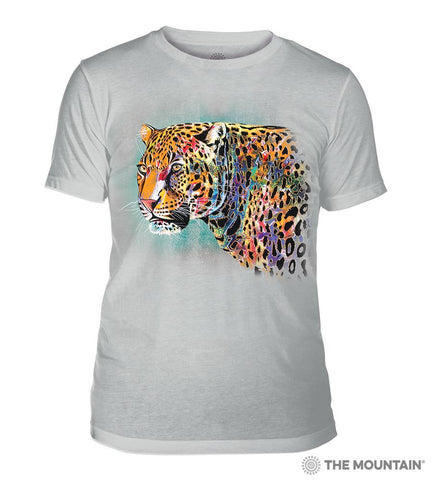 6321 Painted Cheetah Grey Triblend T-Shirt