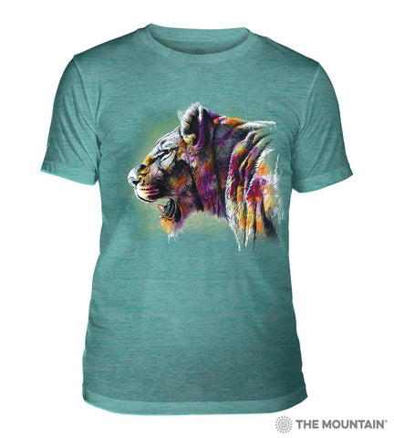 6323 Painted Lion Teal Triblend T-Shirt