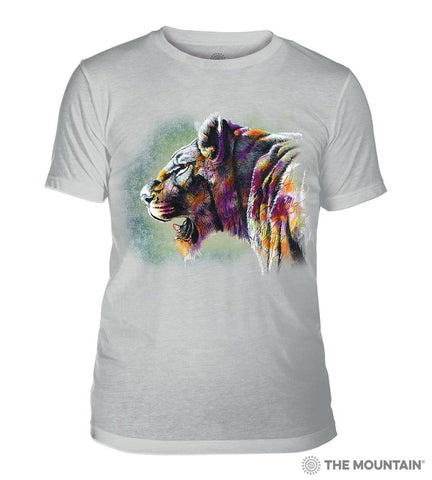 6323 Painted Lion Grey Triblend T-Shirt