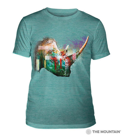 6325 Painted Rhino Teal Triblend T-Shirt