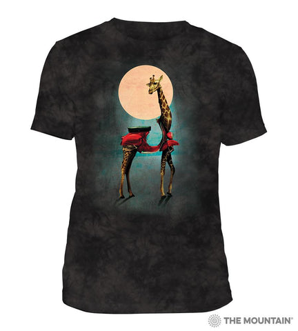 6329 Giraffe Black Triblend T-Shirt