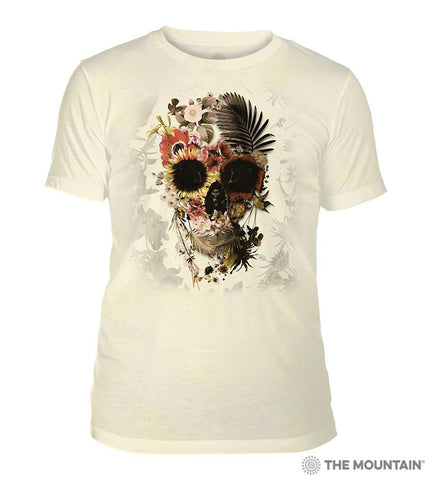6330 Garden Skull Yellow Triblend T-Shirt