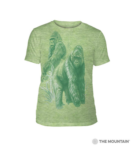 6501 Monotone Gorillas - Green Triblend T-Shirt