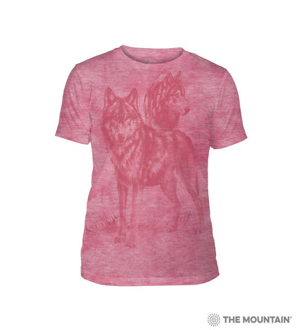 6504 Monotone Wolves - Pink Triblend T-Shirt