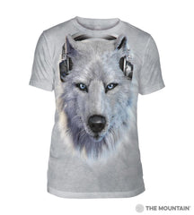 543518 White Wolf DJ Men's Tri-Blend T-Shirt