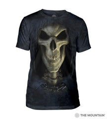 543652 Big Face Death Men's Tri-Blend T-Shirt