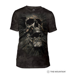 546247 Breakthrough Skull Men's Tri-Blend T-Shirt