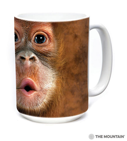 573587 Big Face Baby Orangutan Mug