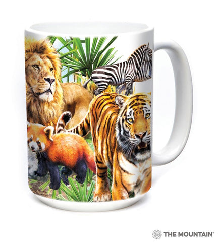 574312 Zoo Collage Mug