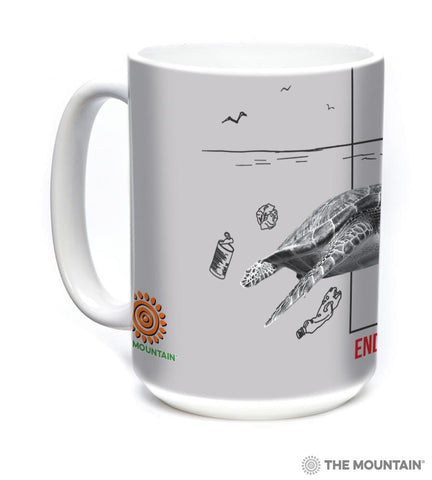 5574 Water Pollution Turtle Mug