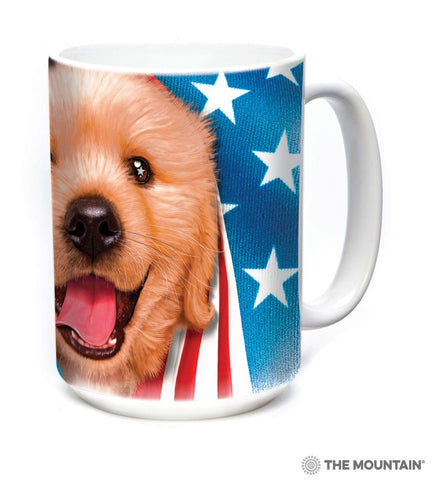 575905 Patriotic Golden Pup Mug