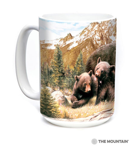 575980 Black Bear Family Mug