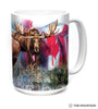 576124 Canadian Moose Collage Mug