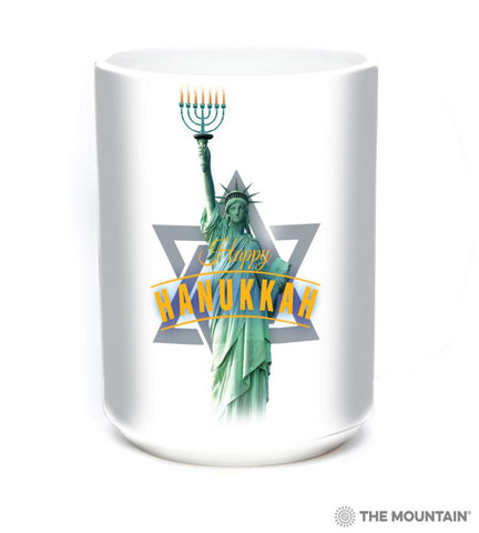 576182 Lady Liberty Hanukkah Mug