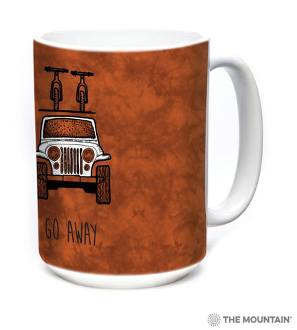 576367 Go Away Jeep Mug
