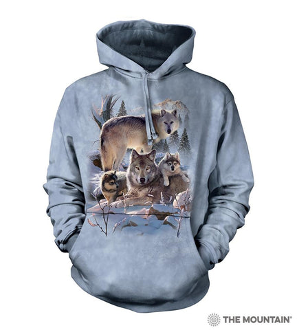 6283 Wolf Family Mountain Hoodie