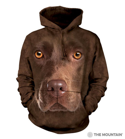 723550 Chocolate Lab Face Hoodie