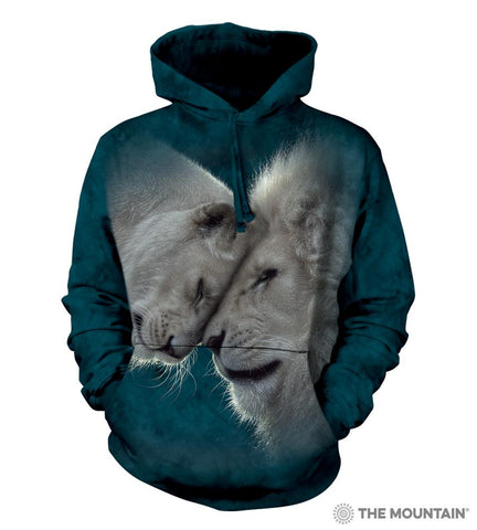 725937 White Lions Love Hoodie