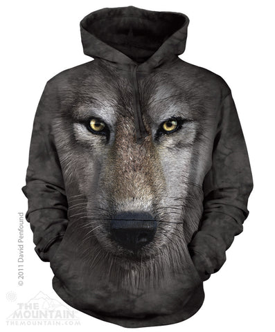 723249 Wolf Face Hoodie