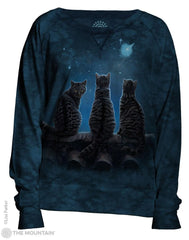 744856 Wish Upon a Star Women's Pullover Slouchy Crew