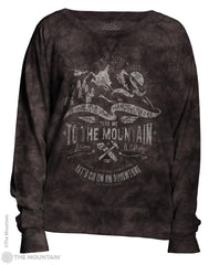 745849 Take Me Women's Pullover Slouchy Crew