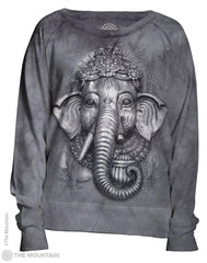 745868 Grey Ganesh Women's Pullover Slouchy Crew