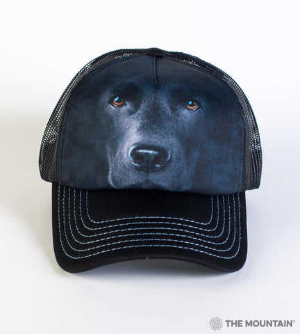 3255 Black Lab Face Trucker Hat