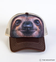 3596 Sloth Face Trucker Hat