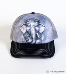 3681 Big Face Ganesh Trucker Hat