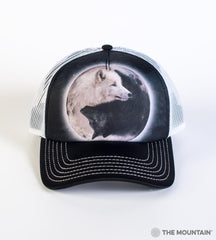 3922 Yin Yang Wolves Trucker Hat