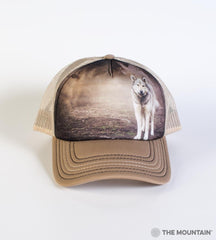 5892 Grey Wolf Portrait Trucker Hat