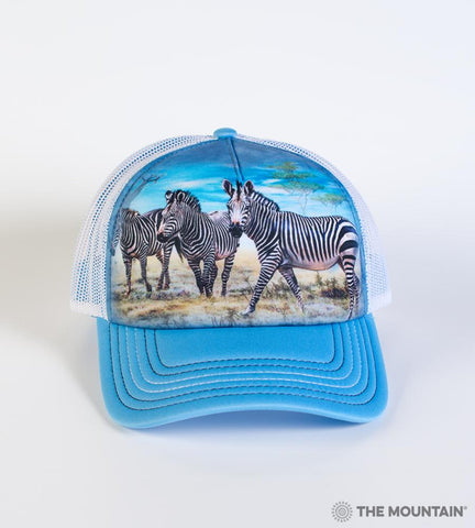 5913 Zebra Gathering Trucker Hat