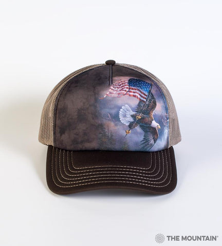 5958 Flag-Bearing Eagle Trucker Hat