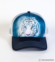 5964 Thoughtful White Tiger Trucker Hat
