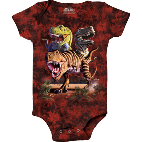 3025 Rex Collage Baby Onesie