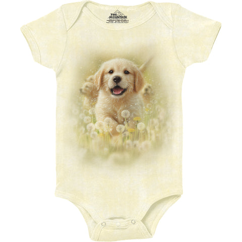 5933 Golden Puppy Baby Onesie