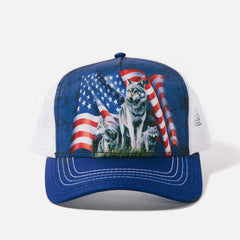 1002 Wolf Flag Trucker Hat