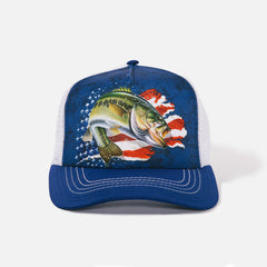 5870 Patriotic Bass Trucker Hat