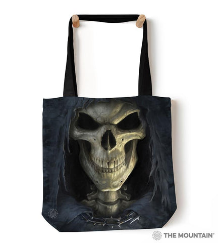 "9736522 Big Face Death 18"" Tote Bag"